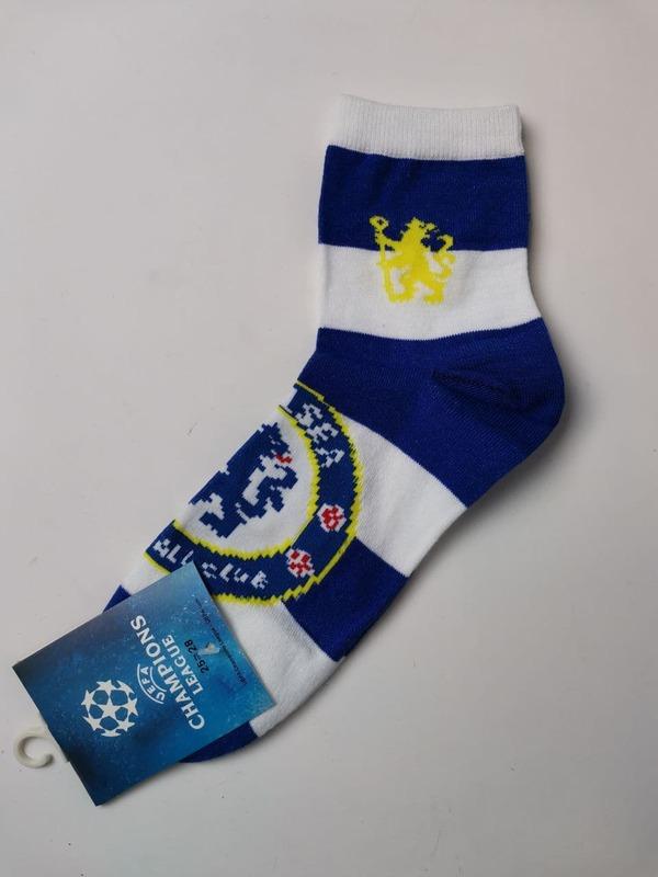Носки Челси бело-синие