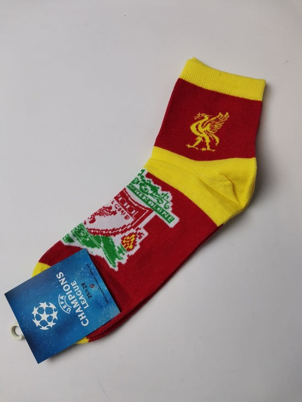 Носки Ливерпуль красно-желтые