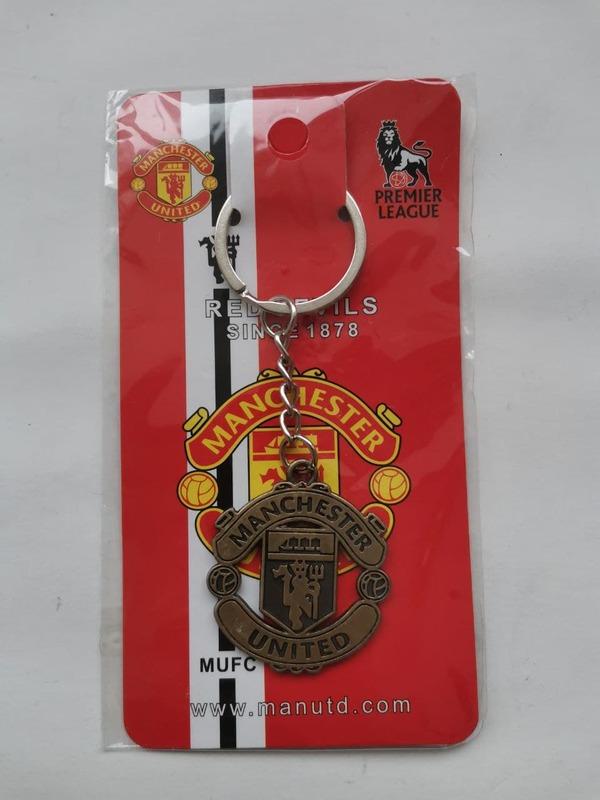 Металлический брелок с эмблемой Манчестер Юнайтед