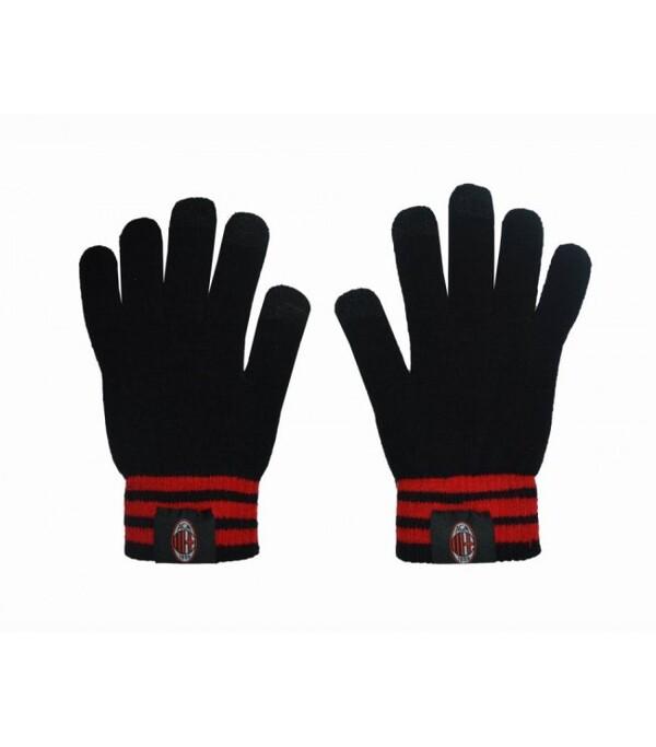Теплые перчатки с эмблемой Милана