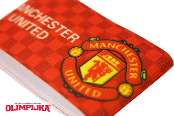 Капитанская повязка с эмблемой Манчестер Юнайтед